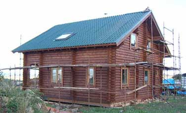 Mobile log cabin - the lodge - mobile cabins would normally be one storey!