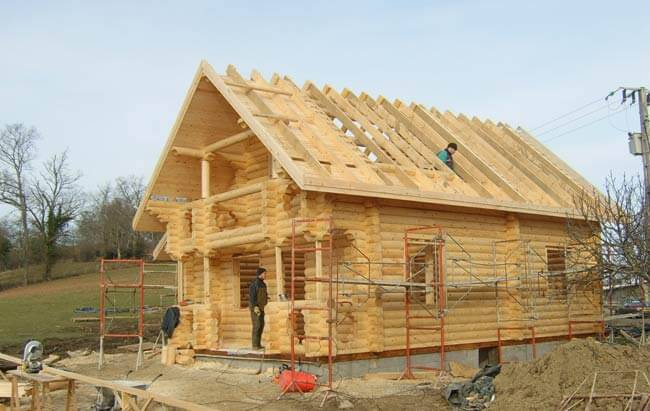 Log cabin home - the Log cabin kit is nearly ready to have the tiling done.