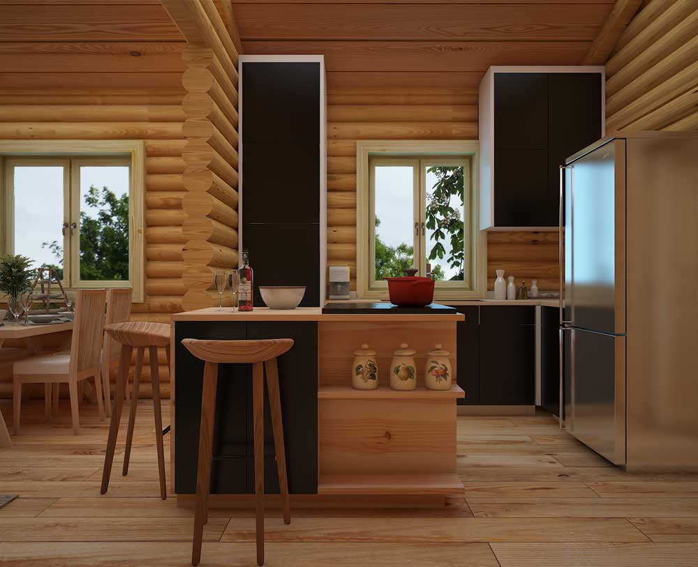 Log cabins Scotland, one of our log cabin homes