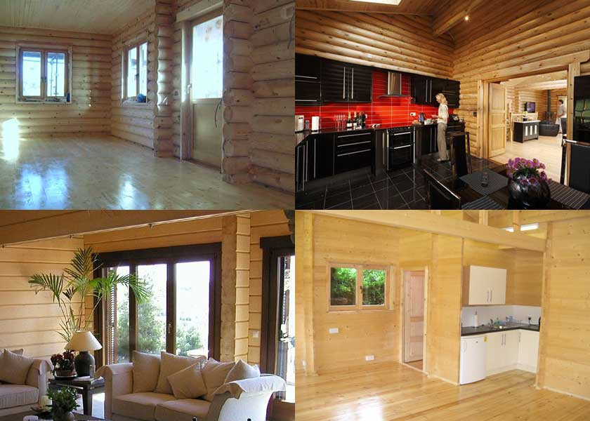 Interior Views Of Log Cabins