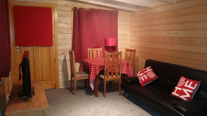Interior view of granny annexe lounge / dining area