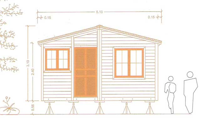 Front elevation of 2 bed garden annexe