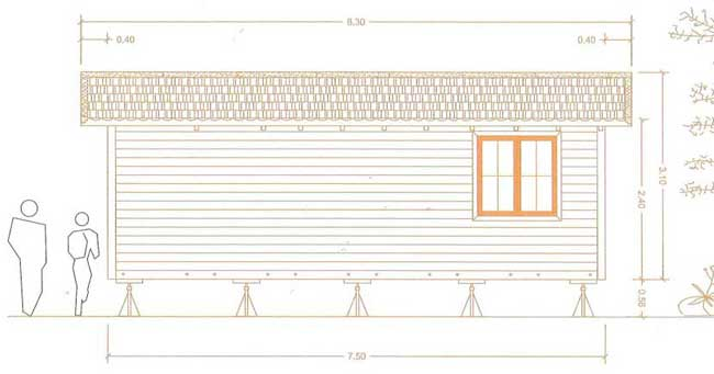 Garden Granny annexe - right elevation