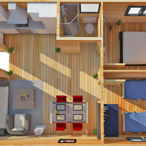 2 bed annex plan - the bothy
